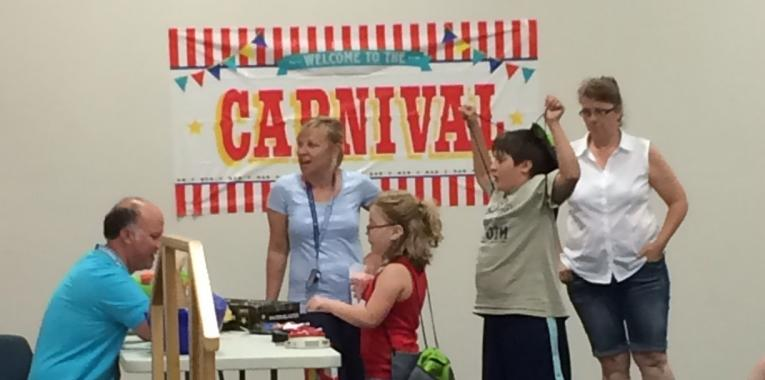 Students at the Seiter Education Center enjoy the activities at the 2016 Carnival!