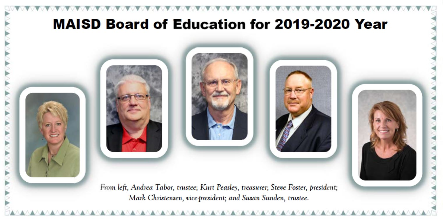Pictures of MAISD Board of Education for 2019-2020