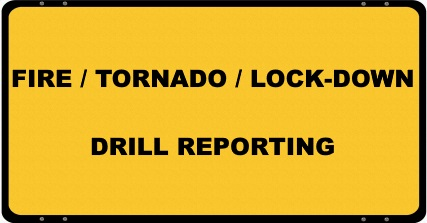 Fire Tornado and Lock Down Drills