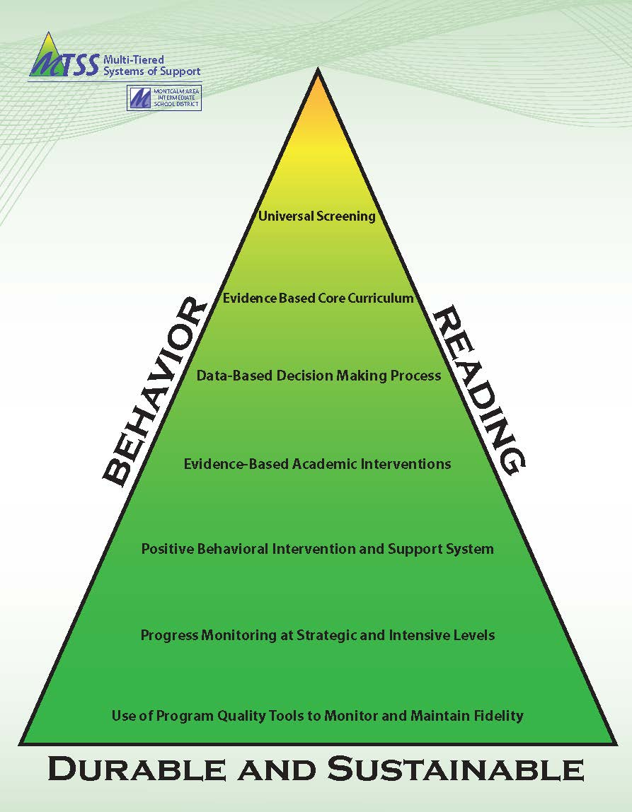 This triangle represents the increasing intensity of interventions for students.